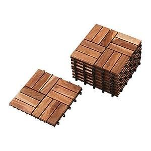 IKEA PLATTA - caillebotis, acacia / 9 pack - 0,81 mÃ,²