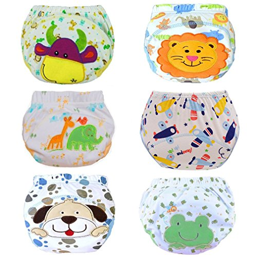 Haimoburg 6er Pack Wasserdicht Baby Lernwindel Trainerhosen Unterwäsche Windeln Windelhose zum Toilettentraining Töpfchentraining (86/92, 6 Pack Jungen)