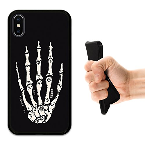 iPhone X Hülle, WoowCase Handyhülle Silikon für [ iPhone X ] Rock Star Handytasche Handy Cover Case Schutzhülle Flexible TPU - Schwarz Housse Gel iPhone X Schwarze D0245