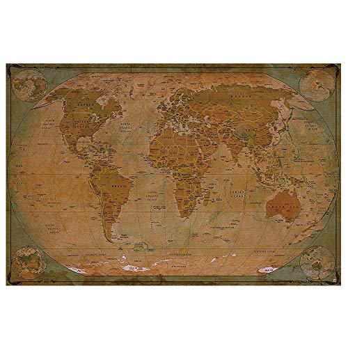 GREAT ART Mapa Mundial histórico Póster XXL - decoración
