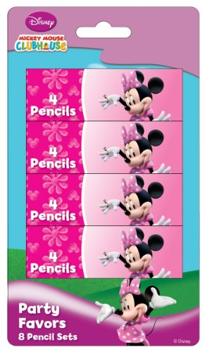 Disney Amscan Minnie Maus Bleistift-Set, Pink (Party Minnie Kind Supplies)