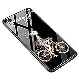 CHENXI Oppo F1 Plus Hülle, [Weibliches] Silikon Rand TPU Rahmen Anti-Screatch Schutz Hochwertig Gehärtetes Glas Rückseite Handy Schutzhülle Case Cover für Oppo F1 Plus/Oppo R9 5.5