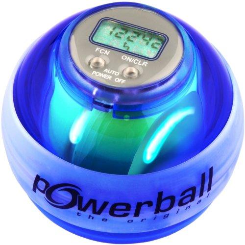 #Powerball the original® Max Blau, mit Digital-Drehzahlmesser und 6 LEDs#