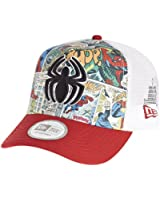 New Era Marvel Spiderman Comic Strip Trucker Cap