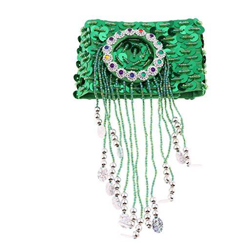 Knöchel Armbänder Kostüm - Fenteer Bauchtanzh Kostüm Armband Armschmuck Arm-, Knöchel- und Fußgelenks-Manschette - Grün