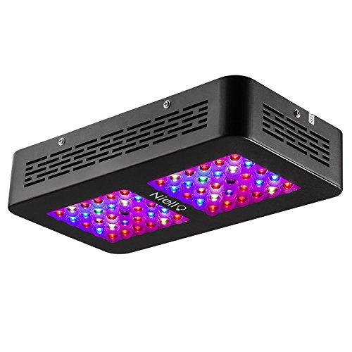 Niello® Optical Lense Series LED Pflanzenlampe 300W Dual LED Grow Light Full Spectrum Wachsen mit 2 Schalter für Zimmerpflanzen Gemüse und Blumen