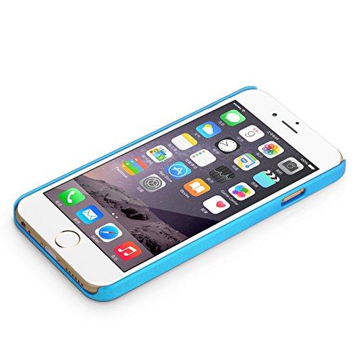JAMMYLIZARD | Coque iPhone 6 6s, écran 4.7' back cover rigide Chromée effet aluminium brossé, Argenté Aluminium carré Chrome BLEU