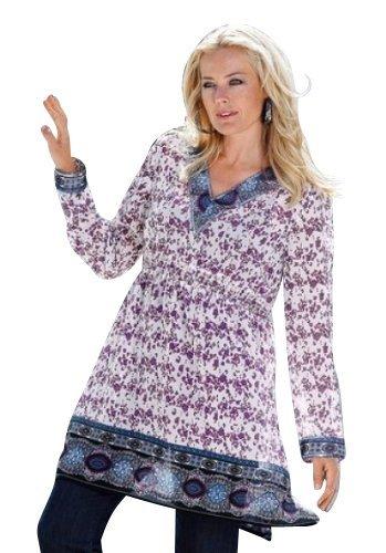 Magnifique tunique-coloris : violet/blanc - Lila/Weiß