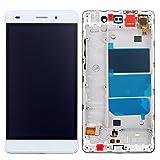West Dragon LCD Touchscreen für Huawei Ascend P8 Lite Display Ersatz Bildschirm Komplettes mit Werkzeuge für Huawei Ascend P8 Lite ALE-L21 (Weiß+Rahmen)