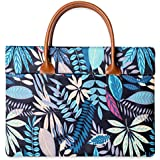 Kraptick Original Flower Pattern Waterproof Laptop Handbag Messenger Bag Case Sleeve for 14 Inch 15 Inch Laptop Case Laptop Briefcase 15.6 Inch (Blue Enchantress)