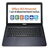 Asus L402NA-GA042TS PC portable 14' Bleu nuit (Intel Celeron, 4 Go de RAM, SSD 32 Go, Windows 10) + Office 365 Personnel inclus pendant 1 an