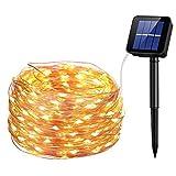UMANOR 200 LED Solar Lichterketten, 72 fuß 8 Modi Kupferdraht Lichter Wasserdichte Outdoor String Lichter für Garten Patio Tor Yard Party Hochzeit Innen schlafzimmer (Solarleuchten)