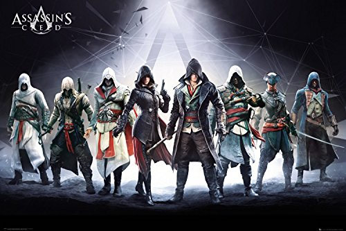 1art1-91090-Assassins-Creed-Desmond-Miles-Connor-Kenway-Poster-91-x-61-cm
