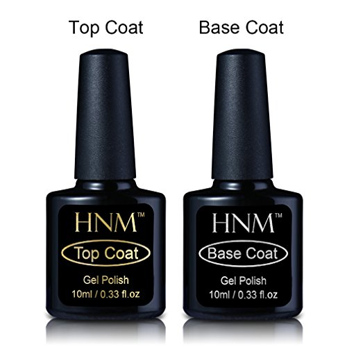 HNM Base Top Coat Set für UV gel shellac set sock off gel peer off nagellack uv farbgel gel nägel Nail Art polish Gel 2x8ml