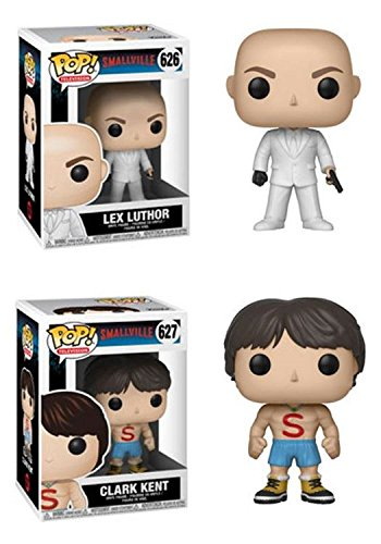 FunkoPOP Smallville Lex Luthor Clark Kent Shirtless Stylized TV Vinyl Figure Bundle Set NEW