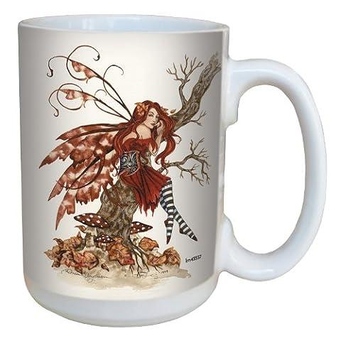Tree-Free Greetings lm43537 15 oz Fantasy Autumn Daydream Fairy Ceramic Mug with Full Sized Handle
