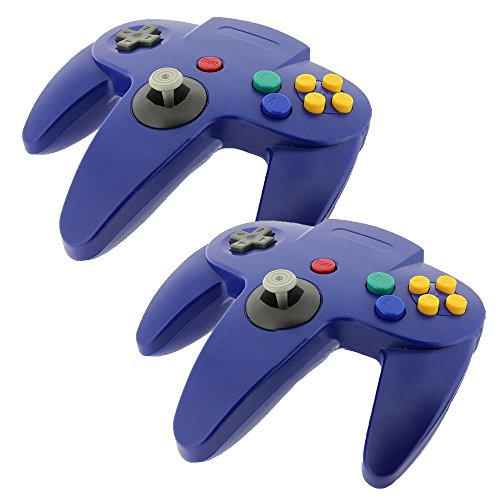 Nintendo Controller 64 Kostüm - Game-System für Nintendo 64 / N64, lang, Blau, 2 Stück