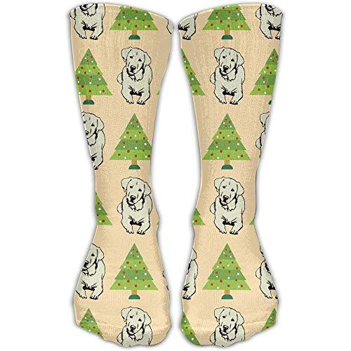 ustige Strümpfe Chirstmas Tree Labrador Retriever Crew Schuh Mädchen Jungen Knie lange Socken Reisen atmungsaktiv ()