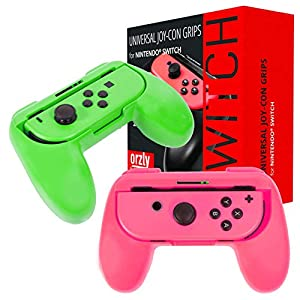 ORZLY® – Twin Controller Grip Attachments for Nintendo Switch JoyCons (Please Select Your Grip Attachment Color Below)