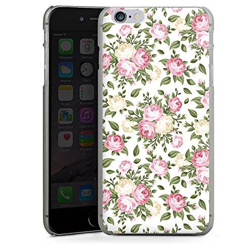 Apple iPhone X Silikon Hülle Case Schutzhülle Flower Rosen Frühling Hard Case anthrazit-klar