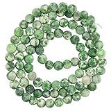 MagiDeal 4mm Perline Della Pietra Preziosa Verde Giada Gioielli Fai Da Te 15 Trefollo Per Fare Stile Gioielleria