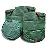VINE RITUALS® [3] Pack 272 Litre large garden bags. Reusable lightweight multi-purpose yard bags with handles for potting, pruning and home and gardening