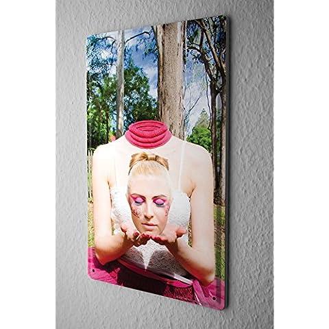 Cartel de chapa Placa metal tin sign Jorgensen Imágenes Fotografía Foto Modelo maquillaje del aerógrafo sin cabeza 20x30 cm
