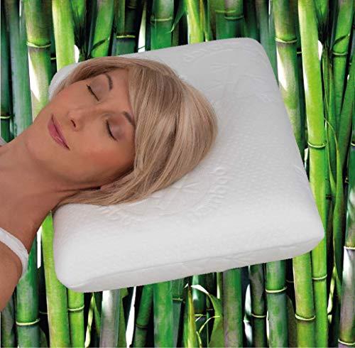 daydream Kopfkissen aus Memory Foam mit Bambus-Bezug (P-11100) 50 x 35 x 10 cm | Testsieger | passt in 80x40 Bezug | Kissen | Kopfkissen | Schlafkissen | Bettkissen | Nackenkissen | Nackenstützkissen