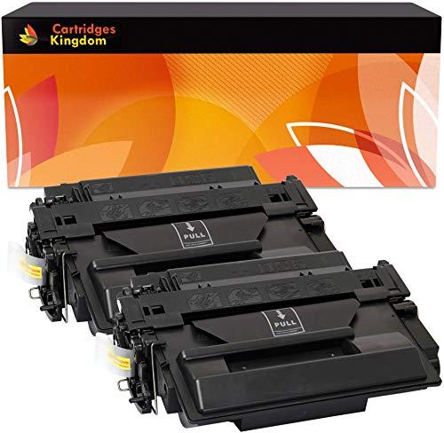 Cartridges Kingdom 2-er Pack Toner kompatibel zu HP CE255X 55X für HP Laserjet P3010, P3011, P3015, P3015d, P3015dn, P3015n, P3015x, Enterprise 500 MFP M525dn, M525f, Canon LBP6750dn