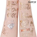 Unomor 56PCS Team Bride Tattoos Hochzeit Tattoo Junggesellinnenabschied Tattoos, Bachelorette Party Tattoos für Junggesellenabschied Bachelorette Party Dekoration