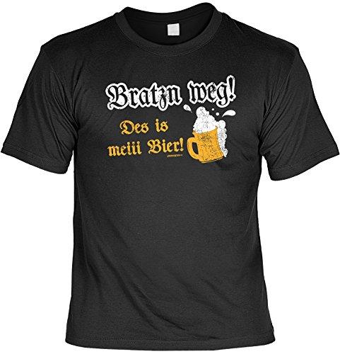 T-Shirt - Bratzn weg - Des is mei Bier - lustiges Bayerisches Sprüche Shirt ideal für's Oktoberfest statt Lederhose und Dirndl