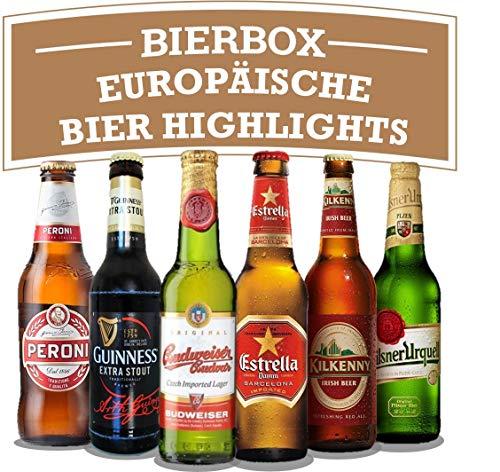 Biere der Welt Geschenkbox - 6 Flaschen verschiedener, beliebter und bekannter Exoten