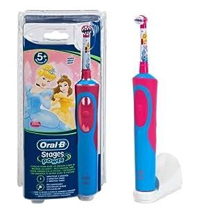 Braun Oral-B Stages Power AdvancePower Kids 900TX elektrische Akku-Zahnbürste Kinder 3+ (D12.513.K) Disney Princess Prinzessin Cinderella + Timer