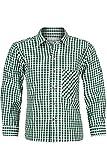 Isar-Trachten Jungen Kinder Baumwoll-Trachten Hemd Kariert Tanne, Tanne, 104