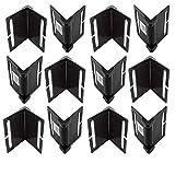 MCS Profi Kantenschoner schwarz, 12er Set - sehr stabil, 12 Stk Kantenschoner zur Ladungssicherung - optimale Ergänzung für Spanngurt und Zurrgurt