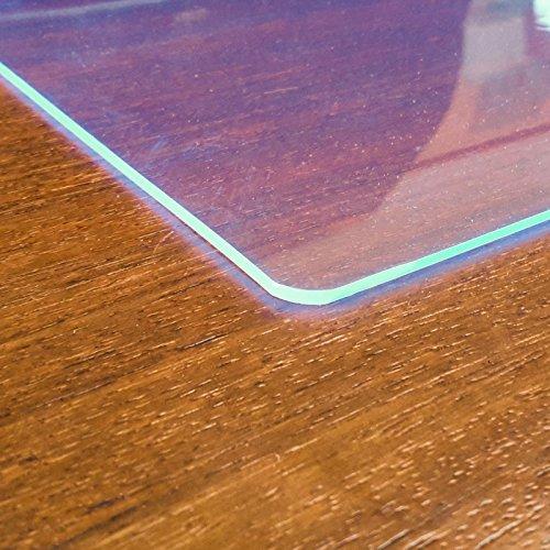 Paderbest24 Transparente Schreibunterlagen mit Leuchtkanteneffekt (90 cm x 60 cm)