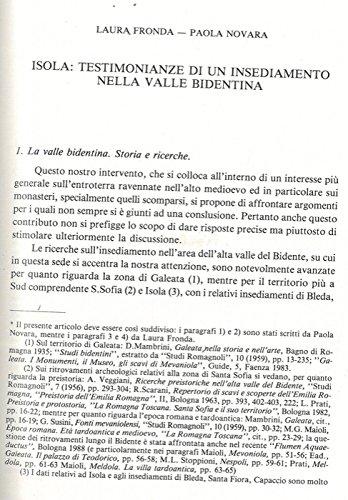 Isola: testimonianze di un insediamento nella valle bidentina.
