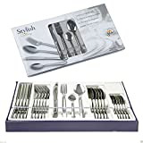 24PC STYLISH KITCHEN STAINLESS STEEL CUTLERY SET TABLEWARE DINING UTENSILS