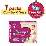 #9: Champs High Absorbent Premium Pant Style Diaper (Pack of 1)(Free 1-Pair Socks)| Premium Pant Diapers | Premium Diapers | Premium Baby Diapers | anti-rash and anti-bacterial diaper | … (Large, 48)