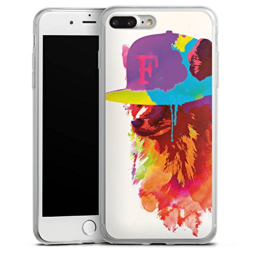 Apple iPhone X Slim Case Silikon Hülle Schutzhülle Fuchs mit Mütze Wasserfarbe Silikon Slim Case transparent