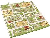 roba Spiel-& Krabbelmatratze 'Bauernhof', Babymatratze 60x120cm, klappbar zu Spielmatte & Krabbelunterlage 120x120cm,