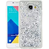 """Nnopbeclik [Coque Samsung Galaxy A5 2016 Silicone] Paillettes Briller Style Backcover Doux Soft Housse pour Samsung Galaxy A5 2016 Coque silicone Transparente """"A510F"""" (5.2 Pouce) Antichoc Protection Antiglisse Anti-Scratch Etui """"NOT FOR A5 2015 5.0"""" - [Argent1]"""