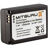 Mitsuru® batterie de remplacement pour Samsung BP1030 BP1130 ED-BP1030 ED-BP1130 compatible avec Samsung NX 1000 1100 200 2000