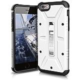 Urban Armor Gear Schutzhülle nach US-Militärstandard für Apple iPhone 6/6S - weiß [Verstärkte Ecken | Sturzfest | Antistatisch | Vergrößerte Tasten] - UAG-IPH6/6S-WHT-VP