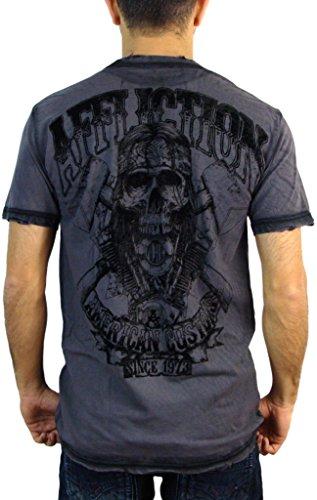 Affliction T-Shirt AC Hatchet Grau Grau