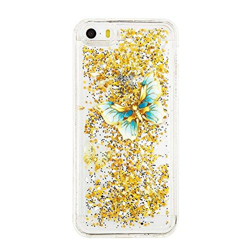 iPhone 5 5S SE Hülle,Silikon Hülle für iPhone 5 5S SE , iPhone 5 5S Glitzer Hülle Regenbogen,Luxus Glänzend Glitzer Schutzhülle Bling Strass TPU Silikon Hülle für iPhone 5G Weiche TPU Abdeckung Schutz 9
