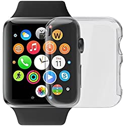 ACUTAS TPU Screen Protector All-around Protective 0.3mm Hd Clear Ultra-thin Cover for Apple Watch Case 2 (38mm)