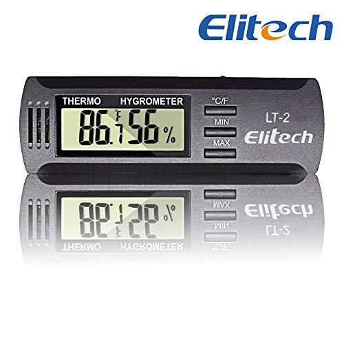 Elitech LT-2 Mini Portatil Medidor Temperatura Humedad,LCD Monitor Termómetro Higrómetro...