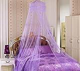 YYGIFT® Rundes Netz Himmelbett Vorhang Mückenschutz Moskitonetz Vollständig Hängendes Set Fliegennetz Bett Insektenschutz Doppelbett Einzelbett Indoor Outdoor (Lila)