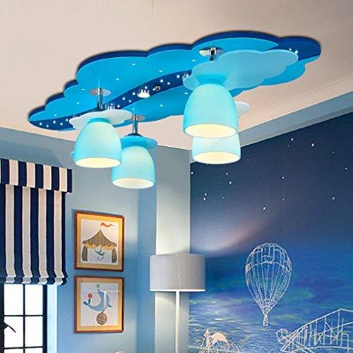 Mediterrane Kinderzimmer Deckenleuchte kreative Cartoon Art Augenschutz Beleuchtung Junge Beleuchtung Flugzeuge